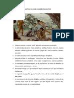 CARACTERISTICAS DEL HOMBRE PALEOLÍTICO