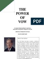 SPIRITUALITY - Power of Vow- Rev. Tom Sannar