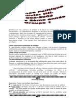 Science politique (2002-2003)