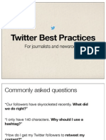 Twitter Journalist Best Practices