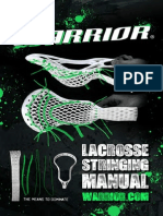 WARRIOR Lacrosse Stringing Manuel