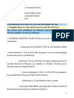 CME-Deliberacao 24-2012-Atendimento Educ Especial na Ed Infantil(REPUBLICACAO).doc