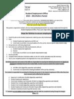 SEO ReHire Packet 2013-14