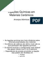 Ligações Químicas dos materiais cerâmicos