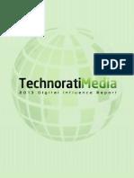 Reporte Influencia Digital 2013