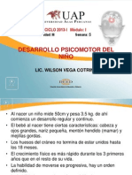 10. DESARROLLO PSICOMOTOR DEL NIÑO