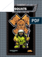 Warhammer 40k - Codex Squats (a Mock Up of How It Should Have Looked for 3rd Edition - PDF)
