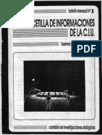 CIU Gacetilla 01 (Jul 1987)
