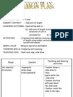 Mathematics Lesson Plan