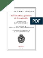 Servidumbre y grandeza de la traducción_Miguel_Sáenz