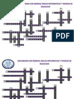 Crucigrama Normas y Reglas Ortograficas Jorge Electronica