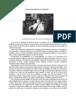 La música de las palabras y la traducción - Borges