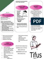 Leaflet Demam Tifoid