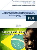 RACISMO INSTITUCIONAL - NÍVEL FUNDAMENTAL