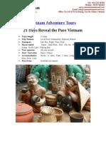 Vietnam Adventure Tours - 21 days reveal the pure Vietnam