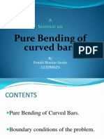 Pure Bending of Curved Bars