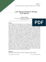 Iamblichus' Egyptian Neoplatonic Theology in De Mysteriis