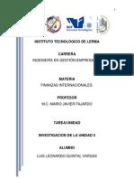 Unidad 5- Inversiones y Financiamientos Internacionales