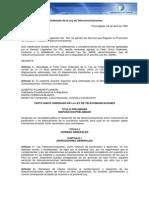 Peru Legislacion Ley de Telecomunicaciones (1993)