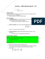 Complex functions A – differentiation