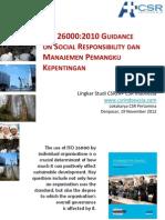 ISO 26000:2010 GUIDANCE ON SOCIAL RESPONSIBILITY DAN MANAJEMEN PEMANGKU KEPENTINGAN