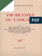 Problemes Du Langage