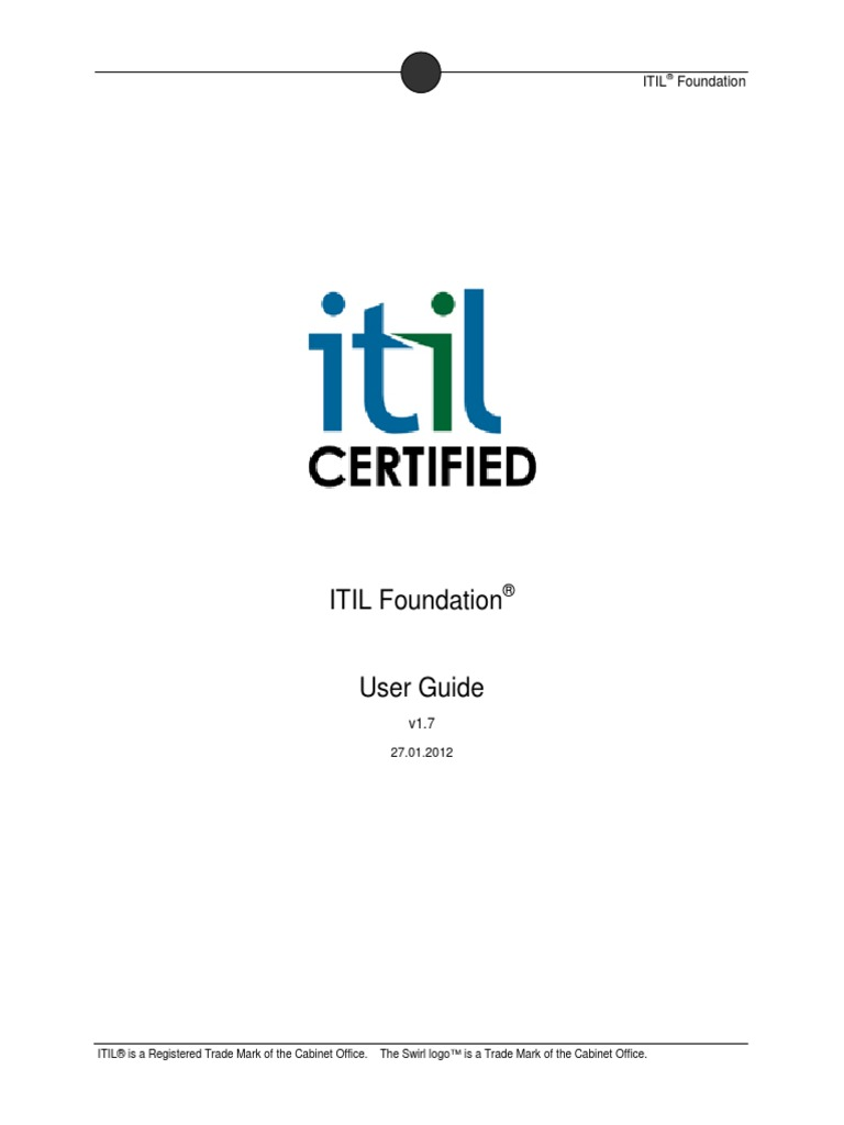 Itil Certified Itil Foundation 2011 Study Notes Itil It Service