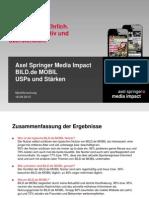 Mobile Impact Academy II - USPs und Stärken ausgewählter Mobile Portale - BILD.de MOBIL