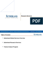 Sutherland Research Overview.[[[[[[[[[[[[[[[[[[[[[[[[[[[[[[