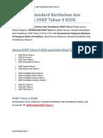 Dokumen Standard Kurikulum dan Pentaksiran DSKP Tahun 4 KSSR