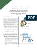 Meccanismo a centro remoto di rotazione per la guida e l'attuazione del polso umanog Dellea