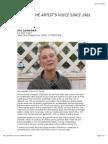 Ann Lauterbach interviewed by John Reed