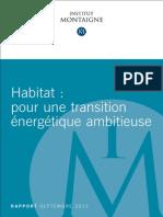 Rapport Habitat Transition Energetique