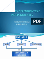 Variables Dependientes e Independientes