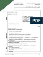 Cartal formal Português vs Inglês