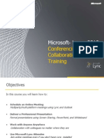 Microsoft Lync 2010 Conferencing and Collaboration Training