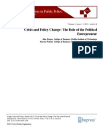 Crisis and Policy Change
