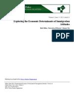 Exploring the Economic Determinants Of