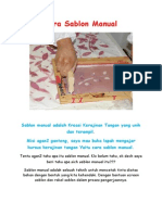 Cara Sablon Manual