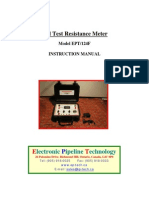 Soil Test Resistance Meter