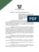 DECRETO N 23.801 SITUAÇÃO EMERGENCIA SECA