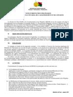 NOTE D'ORIENTATION STRATEGIQUE DU SECTEUR DE L'EAU POTABLE, DE L'ASSAINISSEMENT ET DE L'HYGIENE (Ministère de l'Eau – Janvier 2012)