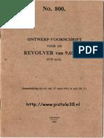 Webley Revolver 1943 Ontwerpvoorschrift