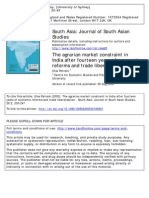 Patnaik, U. the Agrarian Market Constraint in India After Fourteen Years of Economic Reforms and Trade Liberalisation