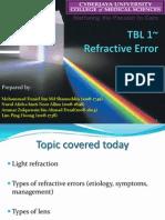 TBL 1- Refractive Error Slides Ppt