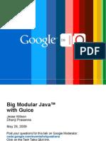 Big Modular Java with Guice