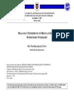 Malaysian Reg Framework
