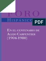 Rita De Maeseneer, Patrick Collard En el centenario de Alejo Carpentier 1904-1980 Foro Hispánico 25 Spanish Edition  2004