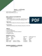 OJT Resume 2007 Format