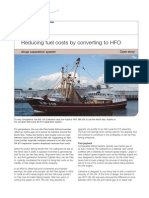Reducing Fuel Costs by Converting to Hfo